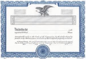 certificate of stock template stock certificate new calendar template site