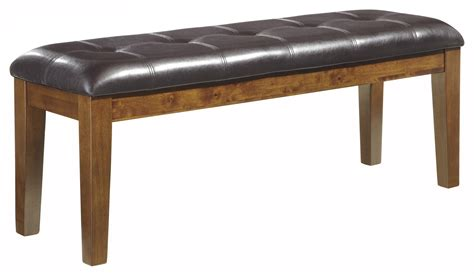 faux leather dining bench signature design by ashley ralene d594 00 casual faux