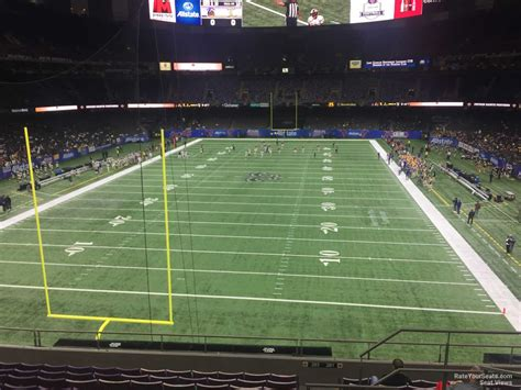 superdome sections superdome section 346 new orleans saints rateyourseats com