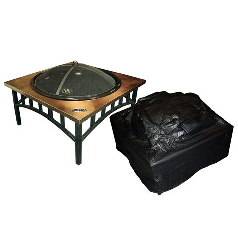 Outdoor Firepit Covers Sense Outdoor Square Pit Vinyl Cover Outdoor Covers At Hayneedle