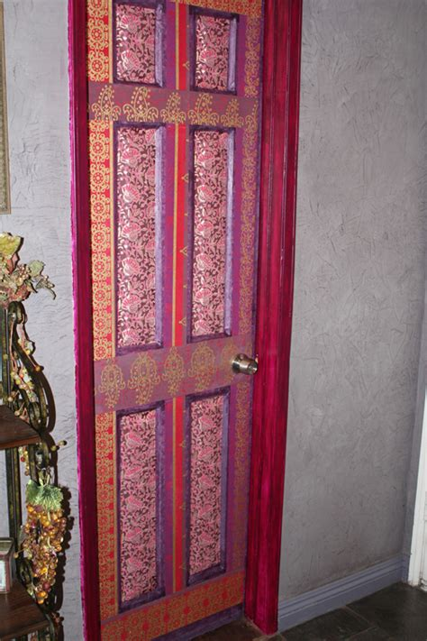 decoupaged door 183 wall decor 183 art decorating and