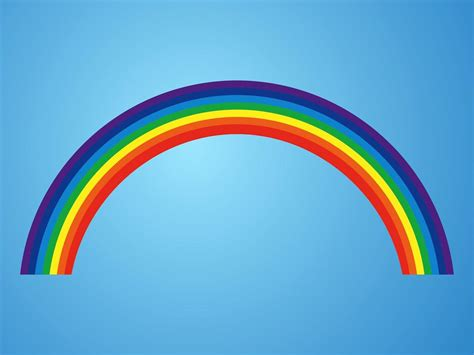 rainbow house beautiful nature phenomenon vector logo icon rainbow