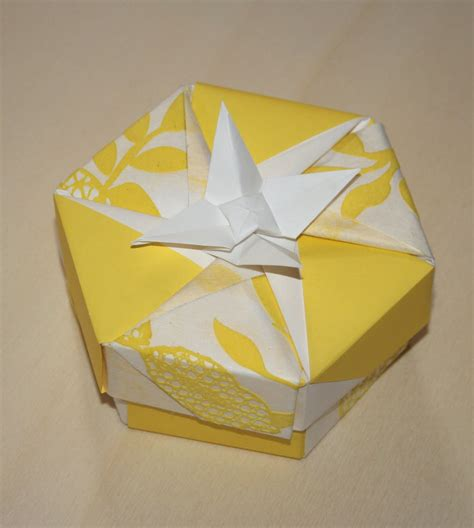 Folding Origami Box - origami constructions heptagonal origami box folding