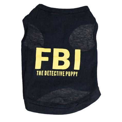 Sweater Fbi Noval Clothing fashion fbi the detective puppy cotton vest shirt clothes for pet dogs cat clothes pet