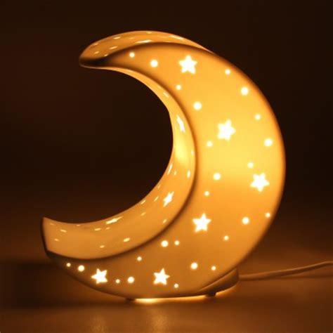 ceramic moon lamp