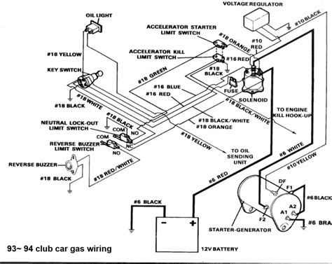 2009 club car precedent gas wiring diagram wiring