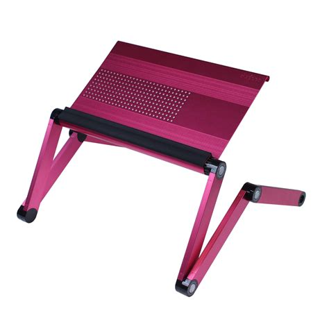 pink laptop desk furinno adjustable vented laptop table desk portable bed