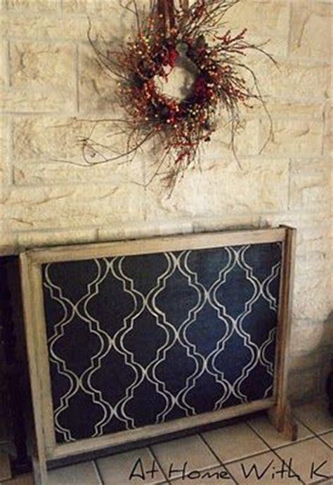 fireplace screen diy ideas