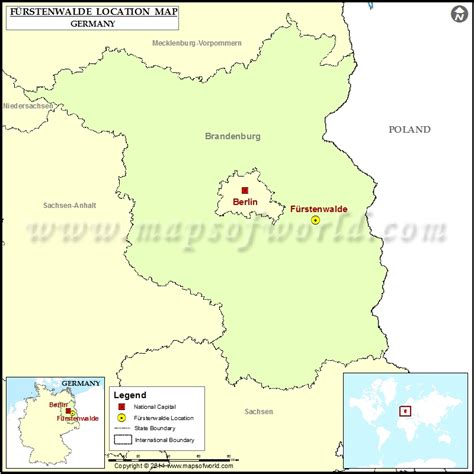germany location map where is furstenwalde location of furstenwalde in