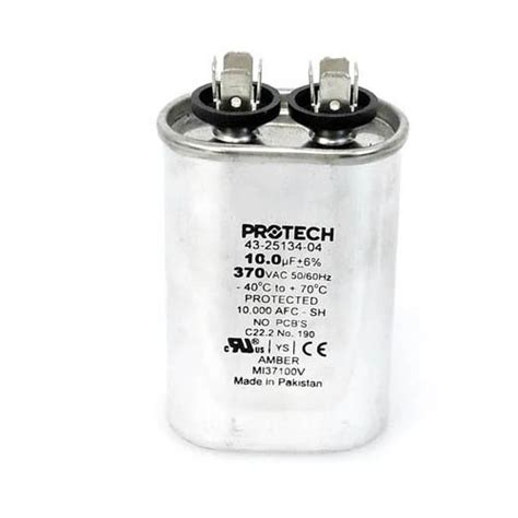 replace capacitor different uf 43 25134 04 ruud oem oval replacement run capacitor 10 uf mfd 370 volt