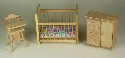 Pine Nursery Furniture Sets Pine Dolls House Nursery Furniture Set