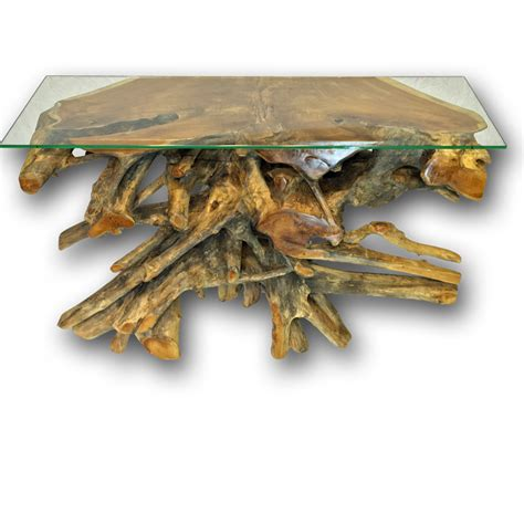 teak root console table teak root console table with glass