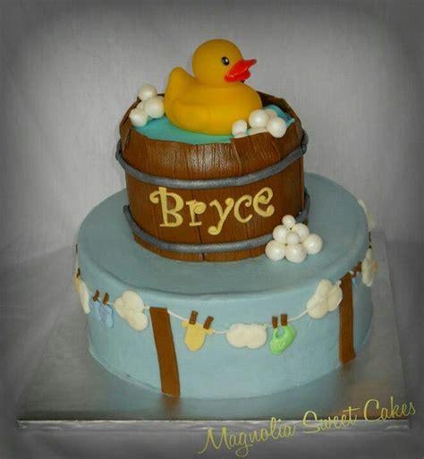 bathtub clothesline duck in wooden tub clothesline baby shower cake baby