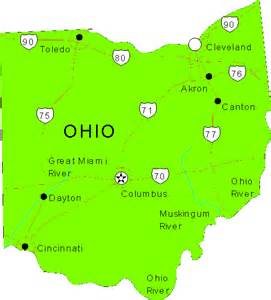 ohio to map ohio maps map of ohio