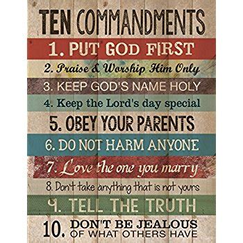 Wood Kitchen by Amazon Com Ten Commandments Pine Wood Look 12x15 Wall