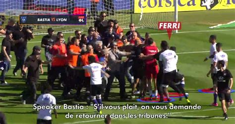 Calendrier Ligue 1 Lyon Bastia Football Ligue 1 Bastia Lyon Les Incidents De