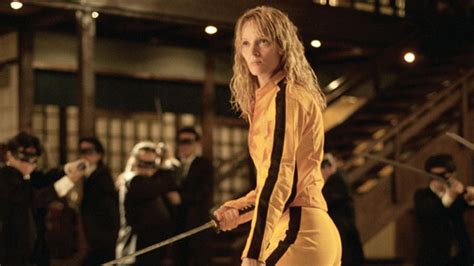 uma thurmans hair in kill bill uma thurman on kill bill halloween costumes instyle com