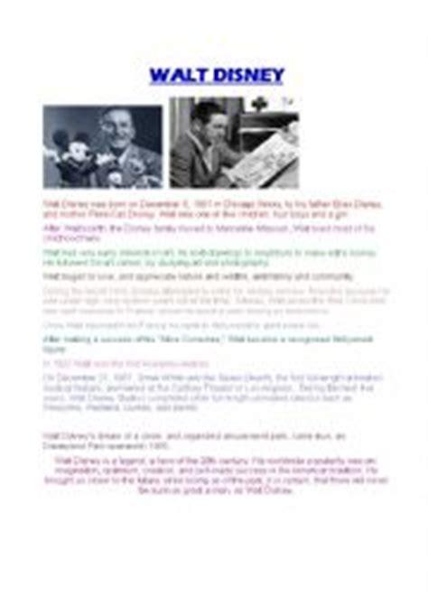 Walt Disney Biography Lesson Plan | english worksheets walt disney biography lesson plan
