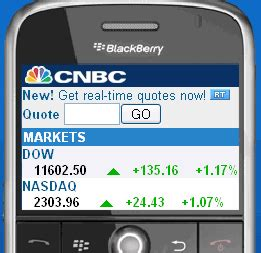 mobile stock quotes the mobile experience real time stock quotes from mobile cnbc