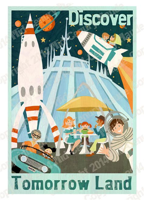 yesterday s tomorrow disney s magical mid century books rocket ship disney space mountain mid by midcenturymaude