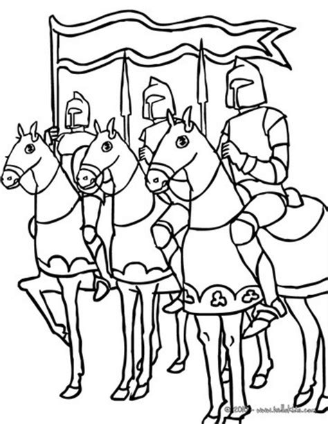 several knights on horseback coloring pages hellokids.com