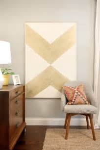 Painting Over Canvas Wall Art Diy Gold Chevron Art Home And Heart Diy