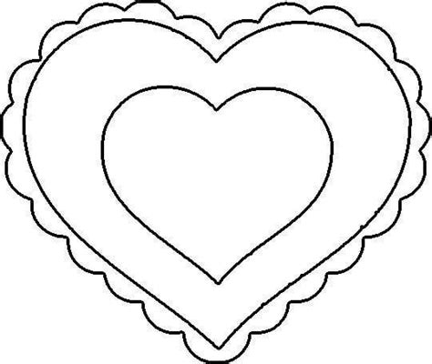 full page heart template printable clipart best