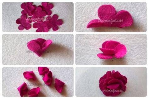 fiori pannolenci e feltro fiori di feltro 10 facili tutorial senza cucire manifantasia