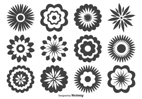 Decorative Owls assorted flower shapes download free vector art stock