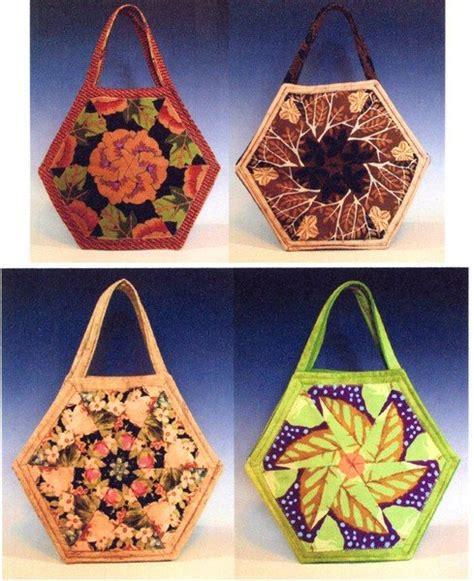 hexagon tote bag pattern hexagon block scrap bag 890657001020
