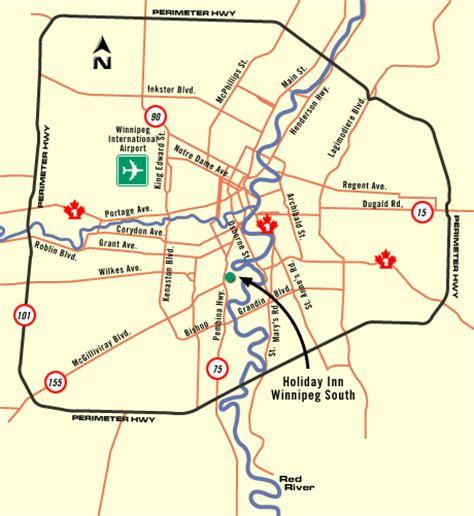 winnipeg canada map inn winnipeg south maps