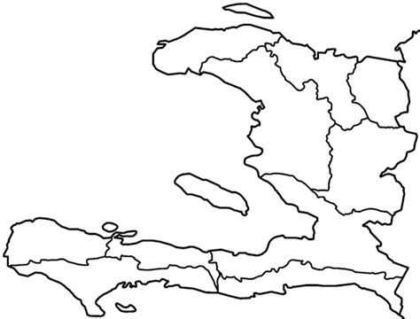 haiti map coloring page file haiti departments blank png wikimedia commons