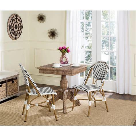 Safavieh Bistro Chairs Safavieh Salcha Black Patio Dining Chair 2 Pack Fox5210e Set2 The Home Depot