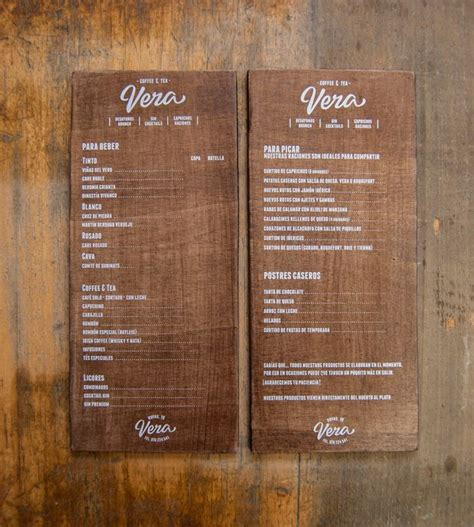 menu design with photos for vera s menu el calotipo chose lettering that best