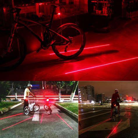 Lu Belakang Sepeda 5 Led Dengan Laser Bicycle Laser bicycle laser strobe taillight 5 led lu led sepeda black jakartanotebook