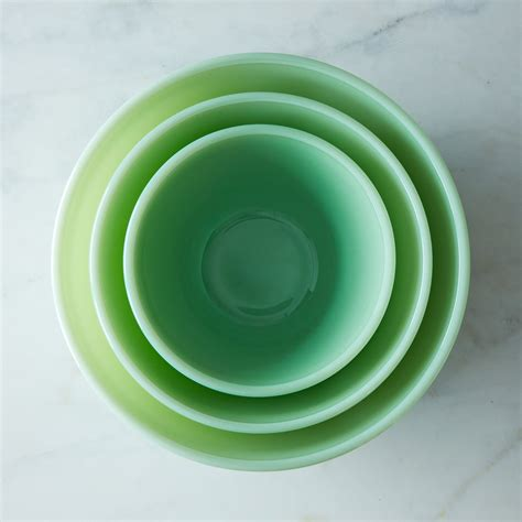 jadeite glass  piece mixing bowl set  food