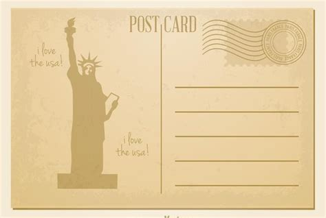 7 Vintage Postcard Templates Free Psd Ai Vector Eps Format Download Free Premium Templates Retro Postcard Template