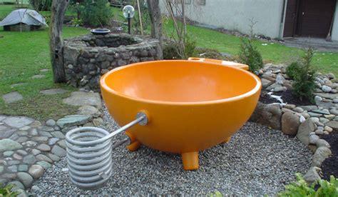 Wood Fired Bathtub by Galvanized Water Trough Portable Wood Burning Tub