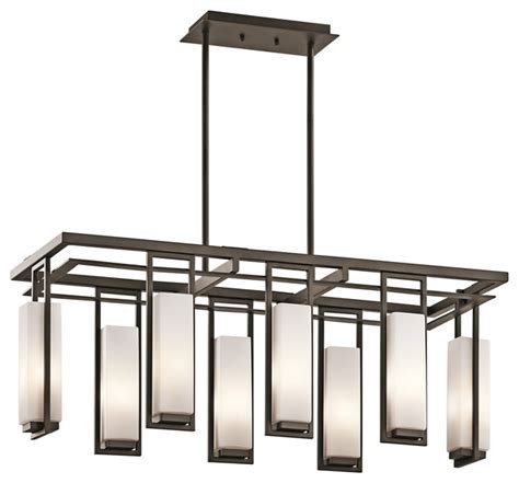 Linear Dining Room Lighting Linear Chandeliers Perimeter 42935oz Modern Chandeliers Cleveland By Kichler