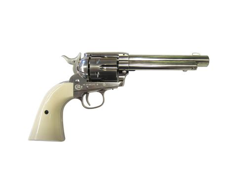 gun review colt peacemaker single action revolver the umarex colt single action army peacemaker nickel co2 pistol