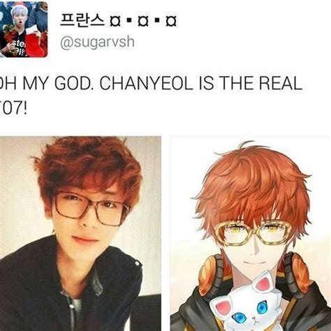 exo hair color treatment chanyeol from exo is 707 mystic messenger amino