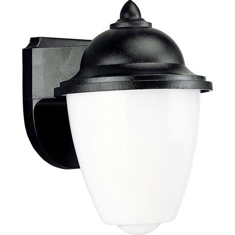 Polycarbonate Outdoor Lighting Progress Lighting Polycarbonate Outdoor Black Wall Lantern P5844 31 The Home Depot