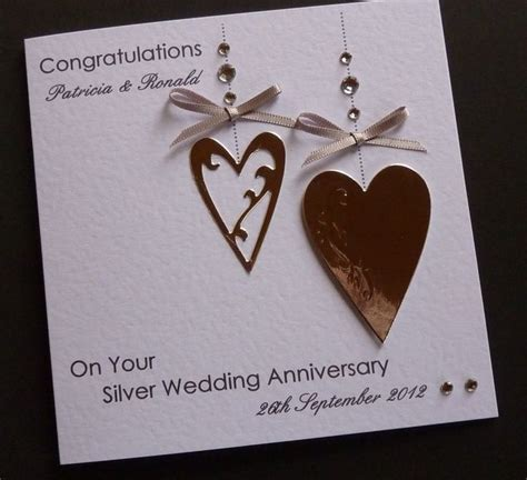 25th Anniversary Handmade Cards - 17 best ideas about happy wedding anniversary cards on