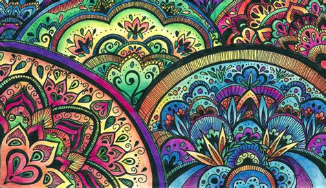 colorful mandala wallpaper mandala desktop wallpaper wallpapersafari