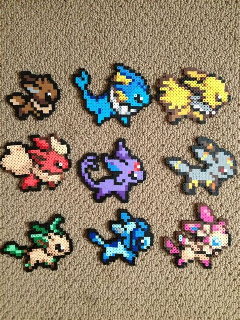 where to get perler eeveelution perler bead templates images