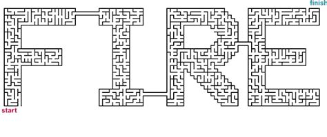 printable fire truck maze mazes to print word mazes