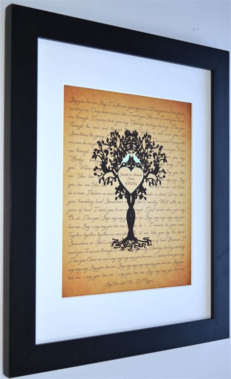 personalized housewarming gifts unique housewarming gift personalized family tree love birds