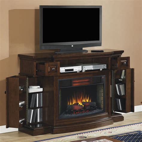 electric fireplace media centers infrared electric fireplace media console