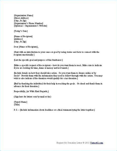 request for donation letter sle non profit the best