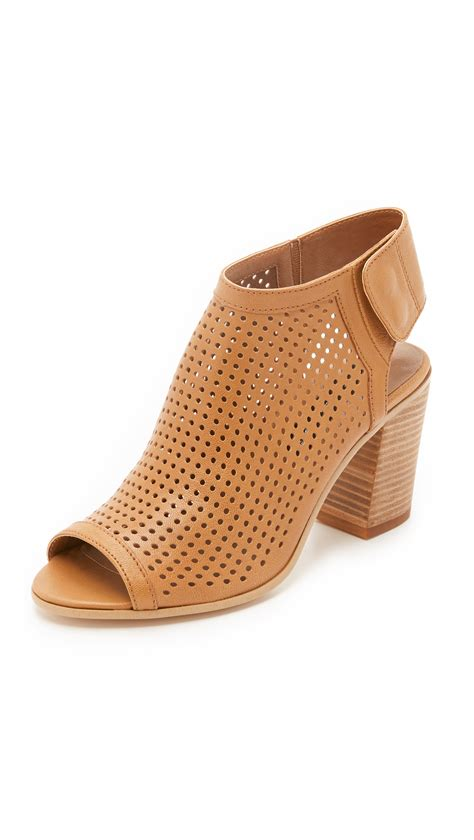 lyst steven  steve madden suzy open toe booties  brown